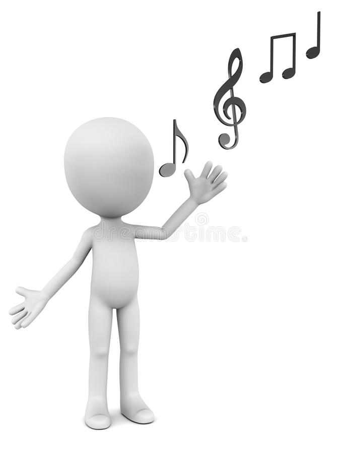 歌唱家 库存例证