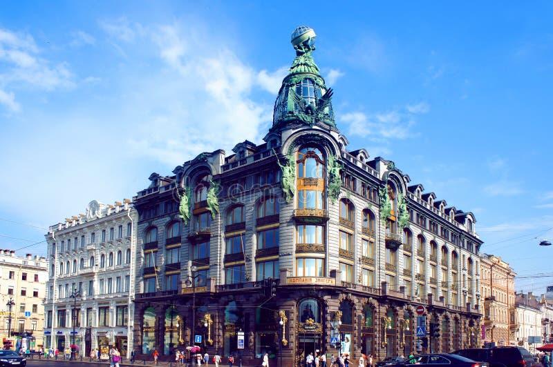 歌手议院在圣彼得堡 免版税库存照片