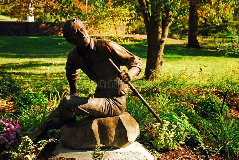 歌曲作者和作曲家史蒂芬・福斯特雕象  库存照片