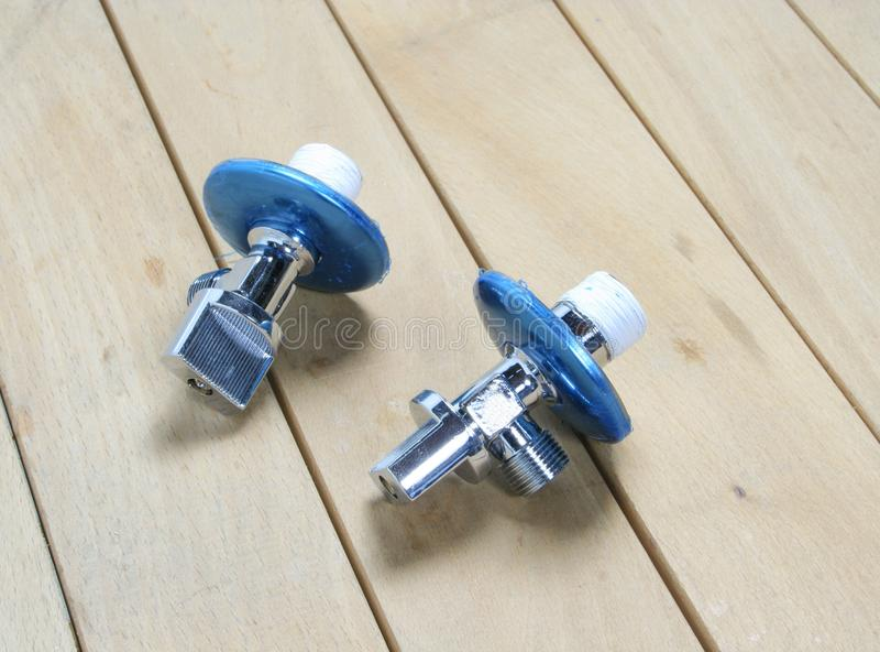 止流栓阀门用于卫生间 免版税库存照片