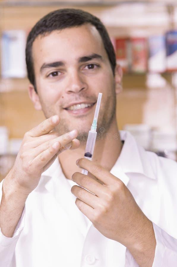 阻止照相机的西班牙药剂师注射器 免版税库存照片