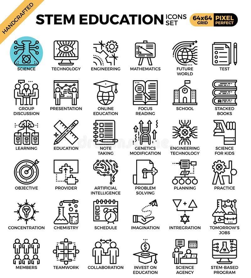 阻止科学,技术,工程学,算术教育 向量例证