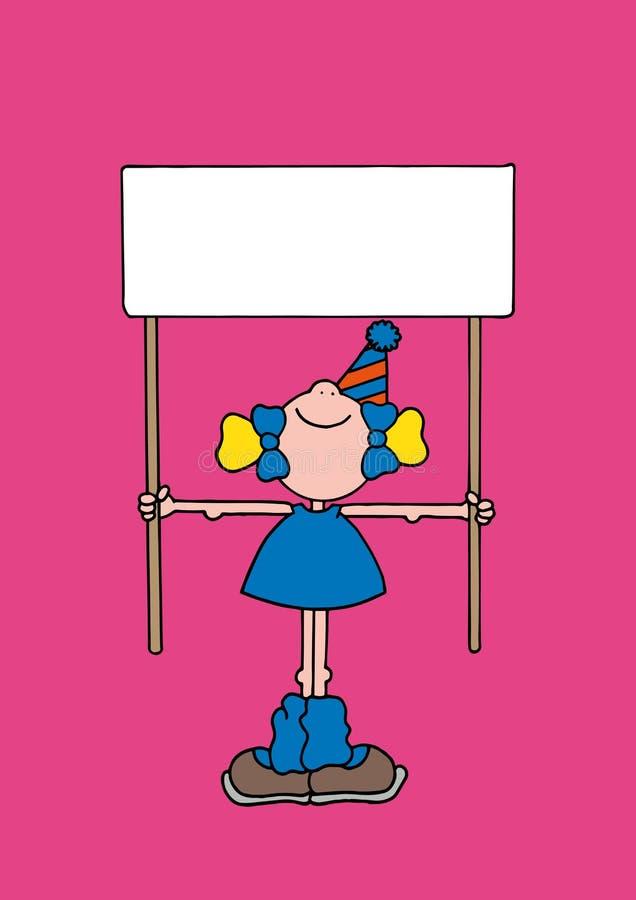 阻止s标志的女孩的例证 免版税库存照片