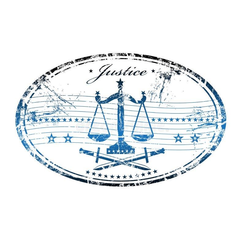 正义不加考虑表赞同的人 库存例证