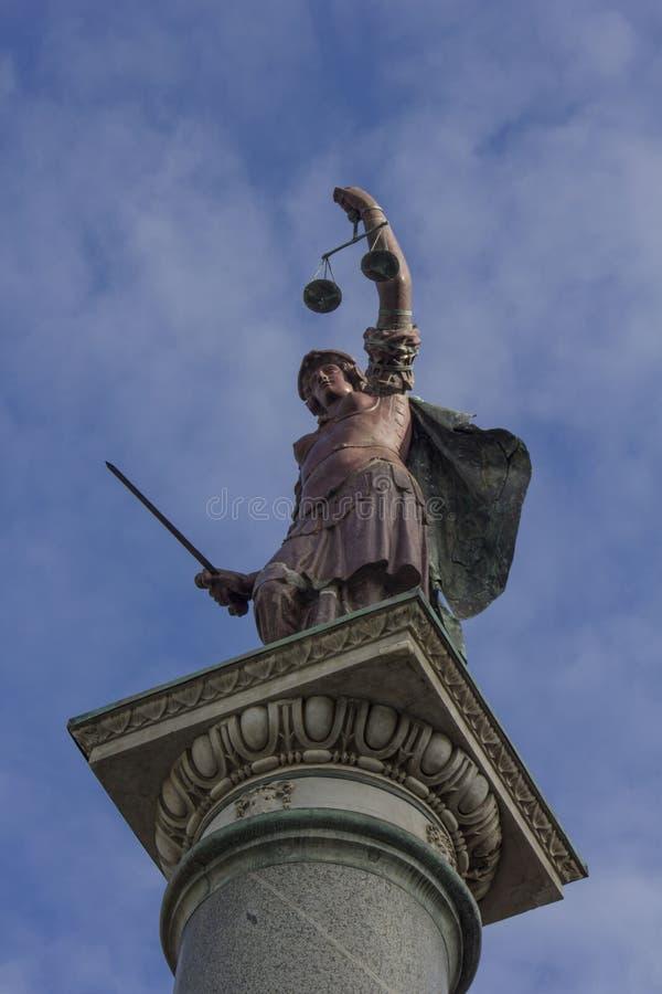 正义专栏在佛罗伦萨,意大利 免版税库存图片