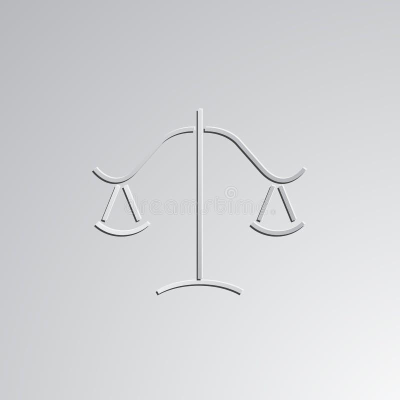 正义传染媒介例证标度  向量例证