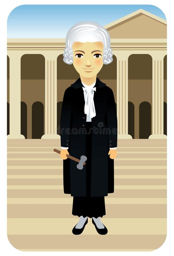正义夫人行业系列 向量例证
