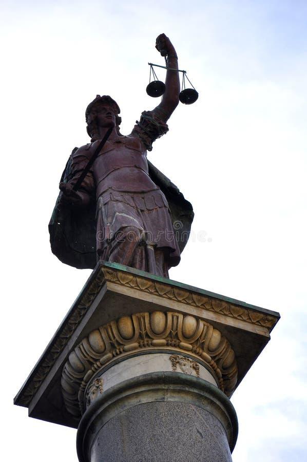 正义夫人雕象 库存照片