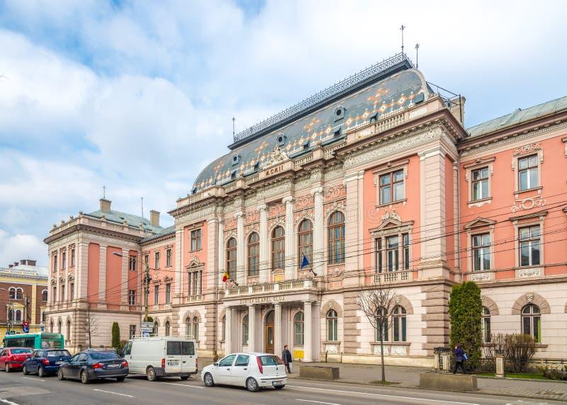 正义宫殿大厦科鲁- Napoca的 库存图片