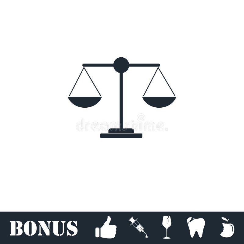 正义平展标度象 库存例证