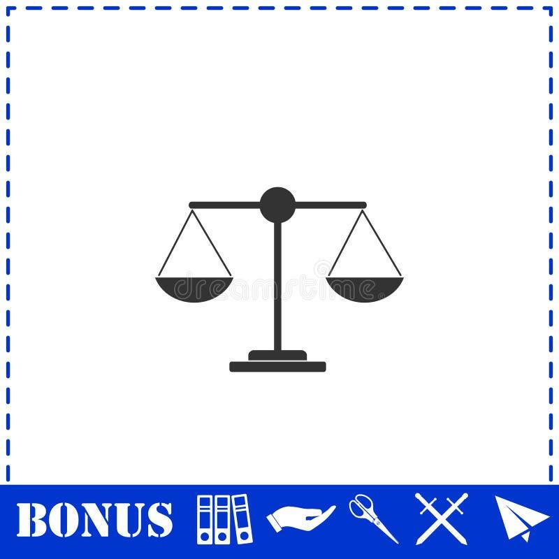 正义平展标度象 向量例证