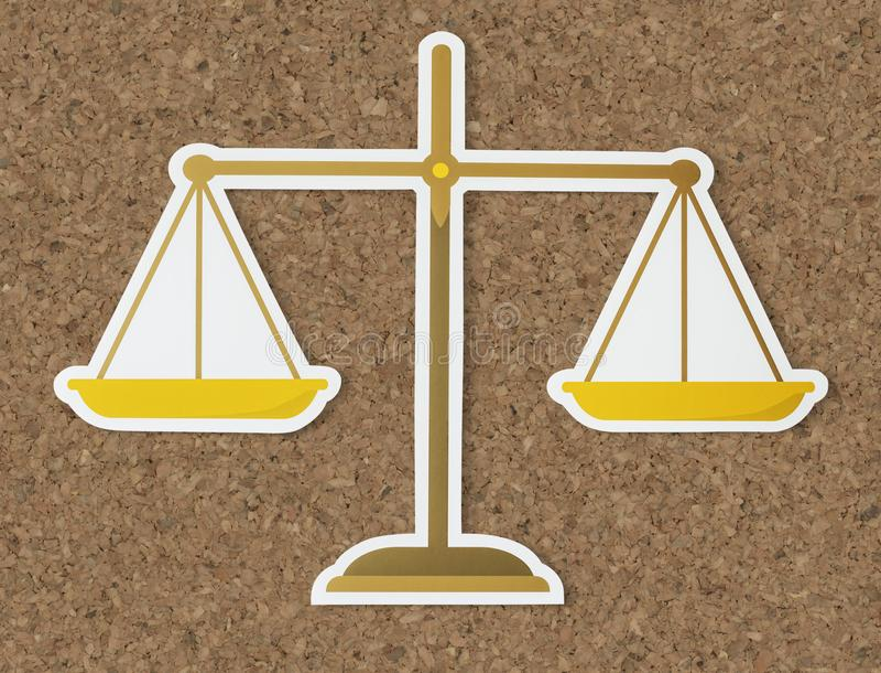 正义平的纸象法律标度  皇族释放例证