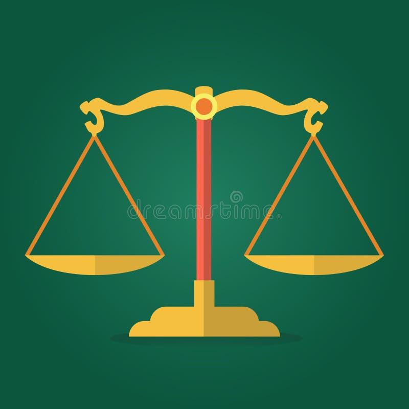 正义平的设计象金黄标度  向量例证