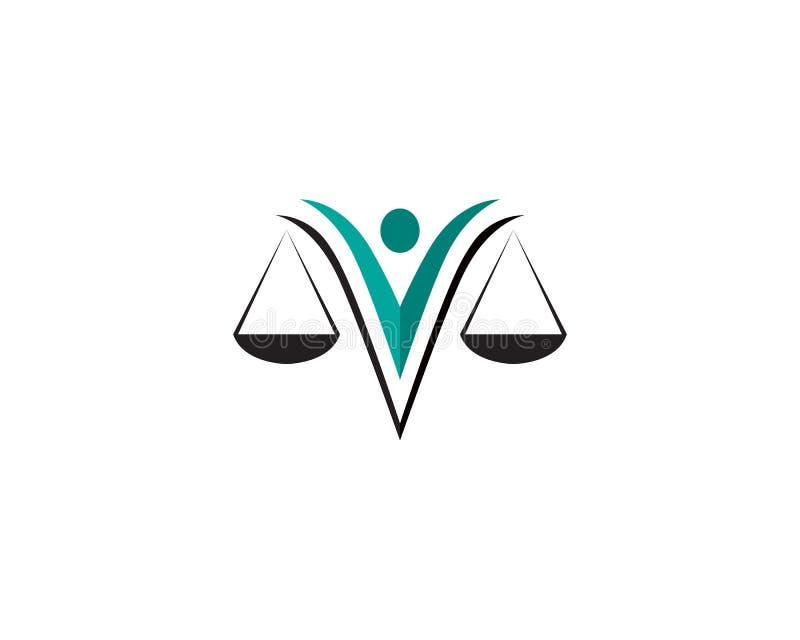 正义律师商标和标志模板象app 皇族释放例证