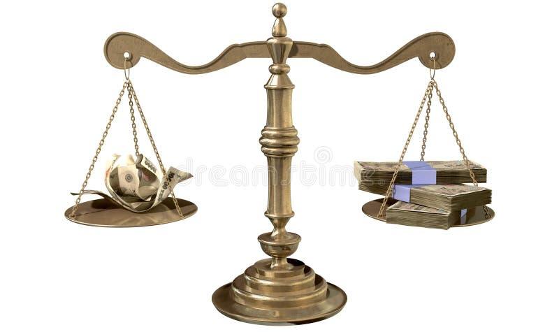 正义收入差距日本不平等标度  向量例证