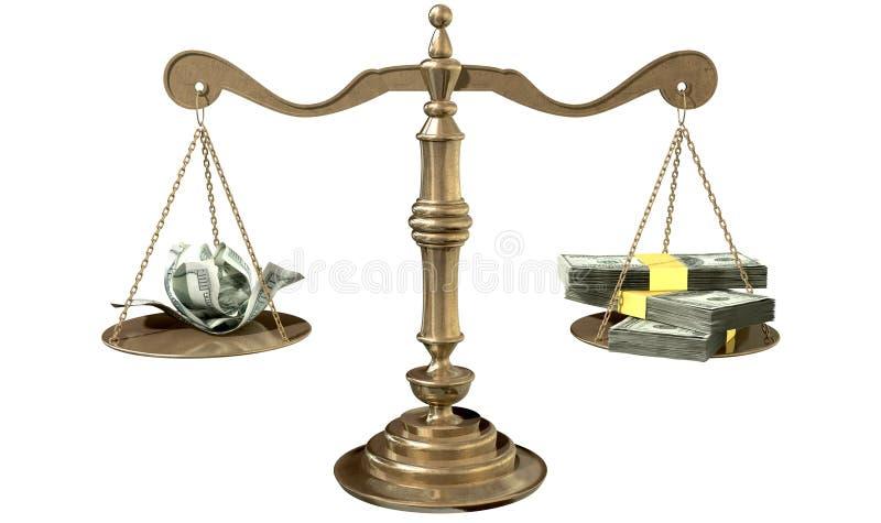 正义收入差距美国不平等标度  皇族释放例证
