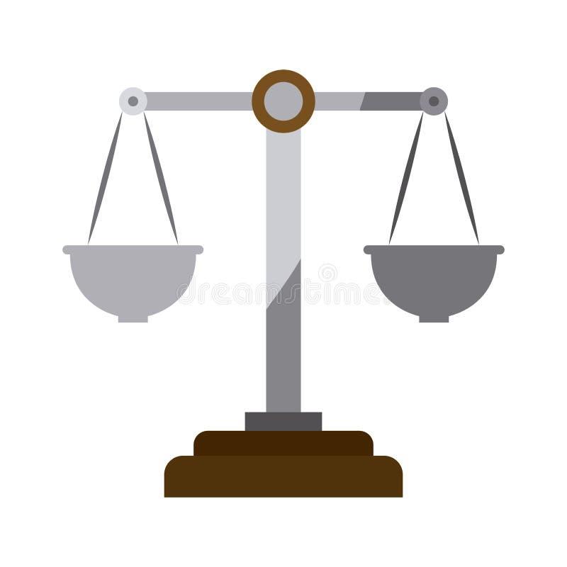 正义标度五颜六色的剪影没有等高的 向量例证