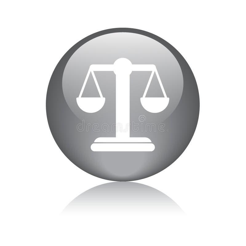 正义标度平的象 皇族释放例证
