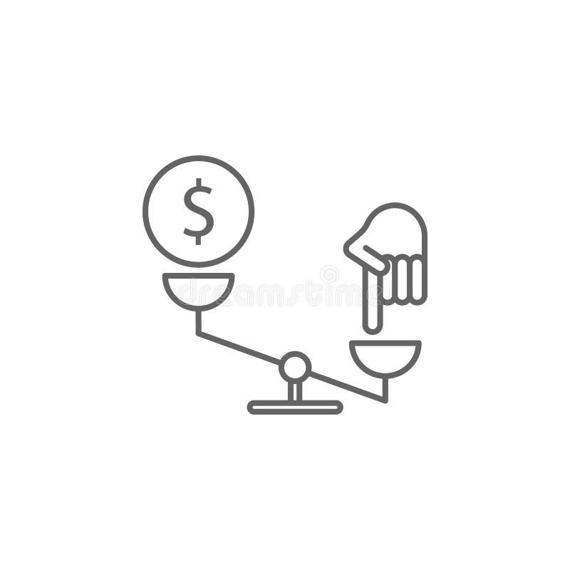 正义标度概述象 法律例证线象的元素 标志、标志和传染媒介可以为网,商标,机动性使用 向量例证