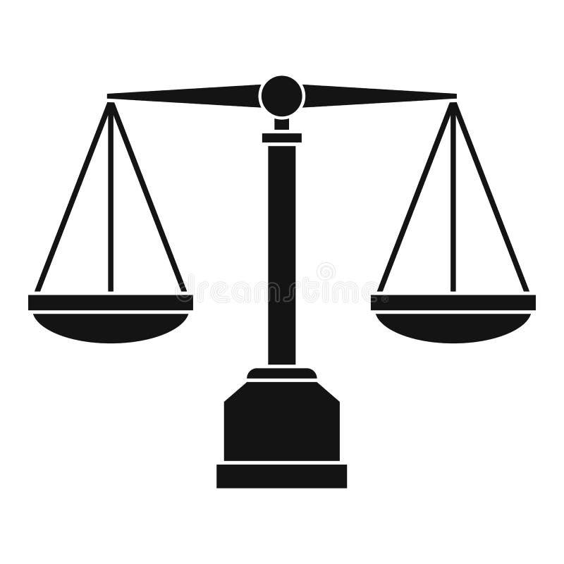 正义标度象,简单的样式 皇族释放例证