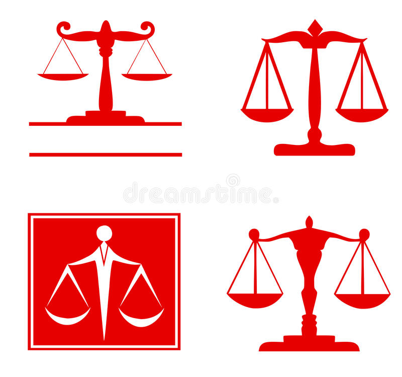 正义标志-集合标度  向量例证