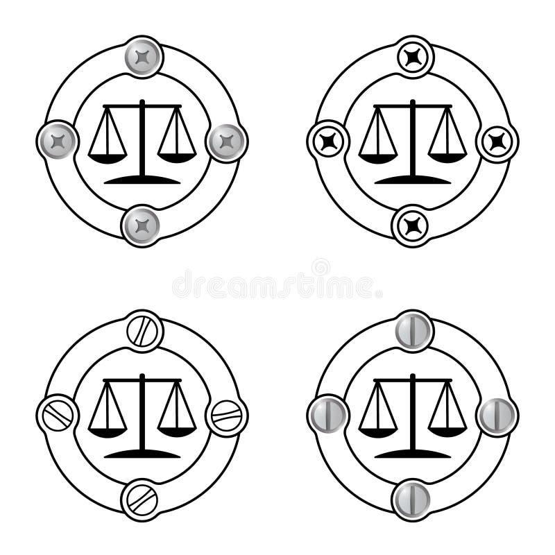 正义标志 向量例证