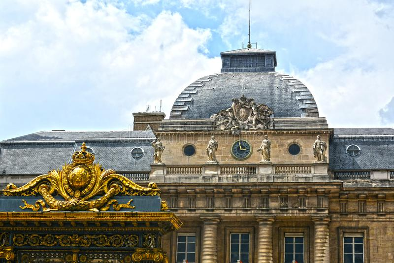 正义正义宫殿宫殿位于巴黎的中心 前囚犯,现在mu 库存照片