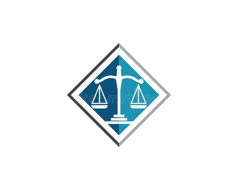 正义法律商标模板传染媒介 向量例证