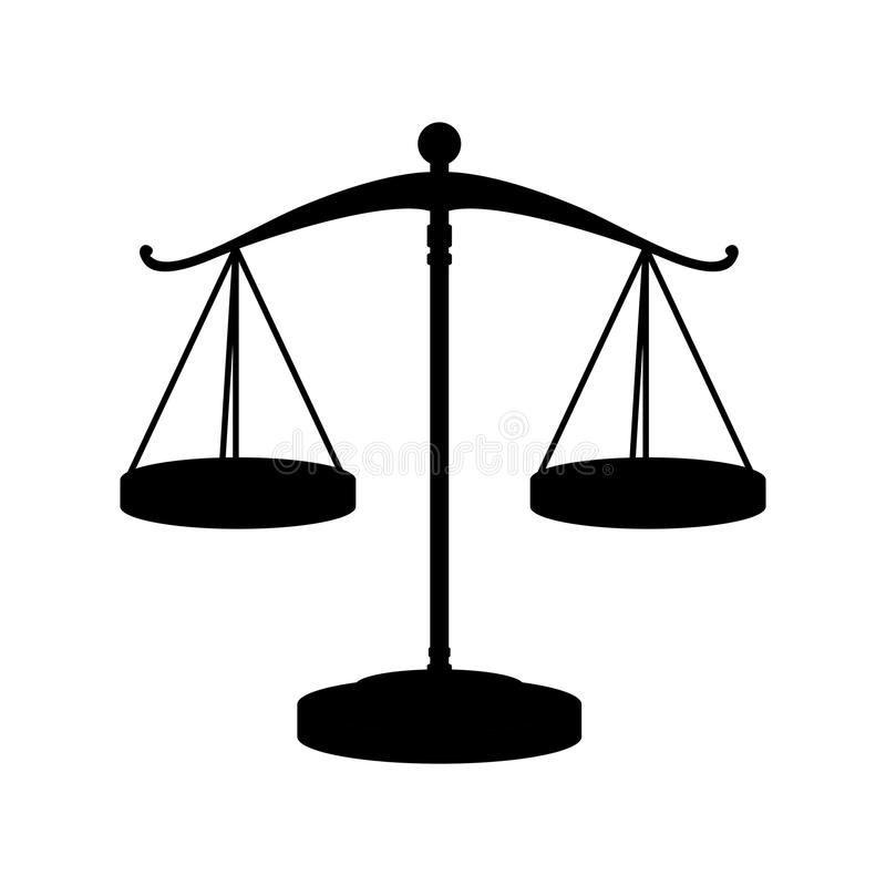 正义法律标度  库存例证