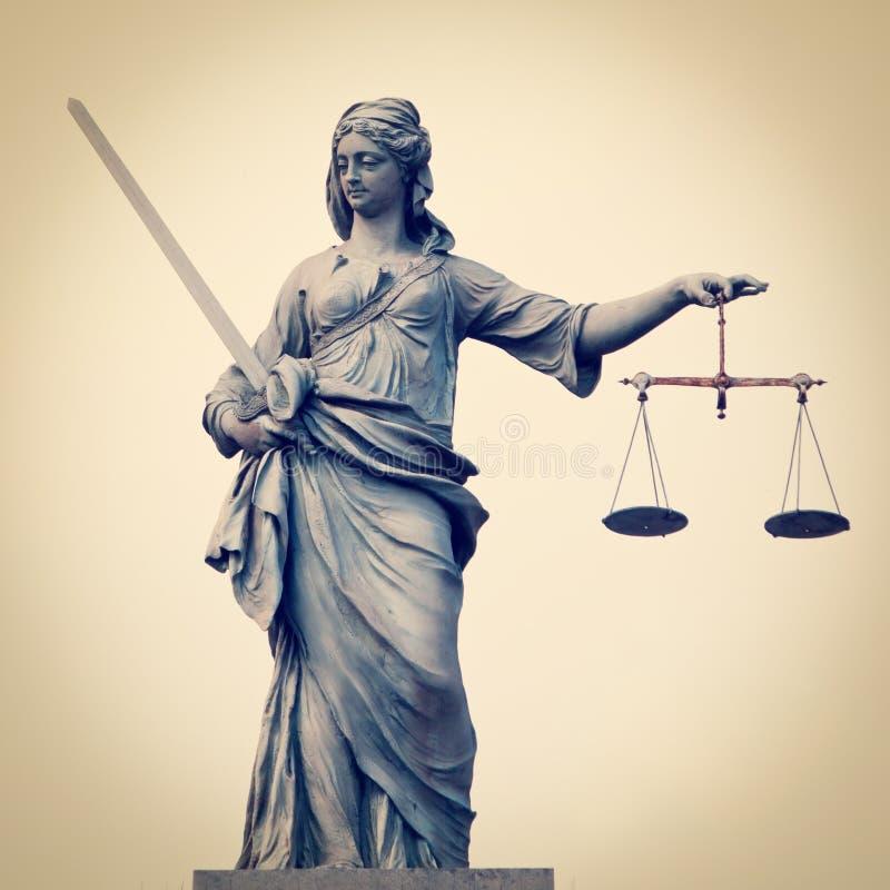 正义的夫人 免版税图库摄影