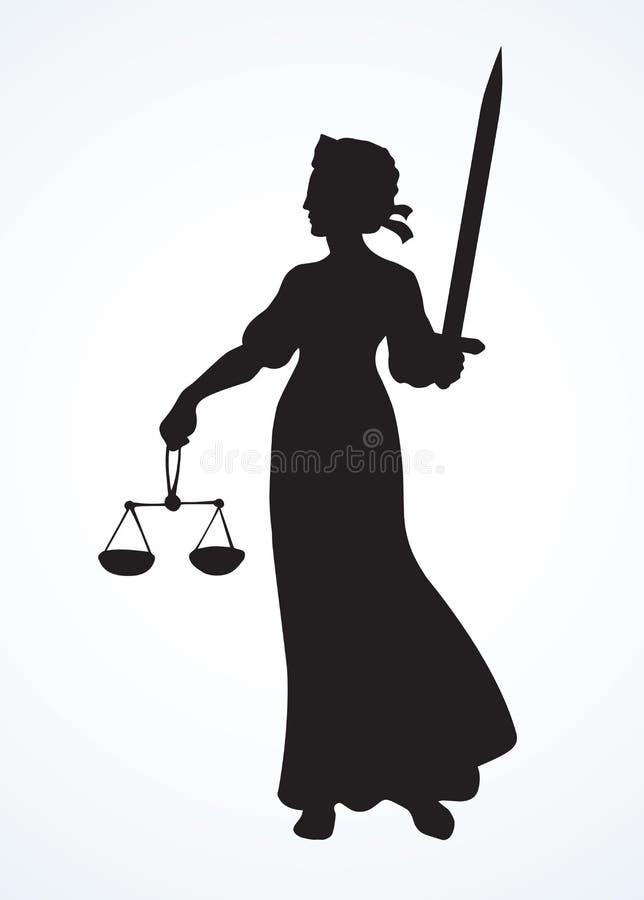 正义的标志 r 向量例证