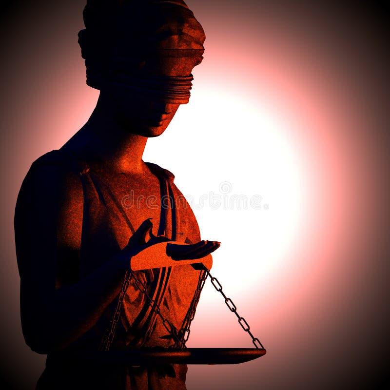 正义的概念 向量例证