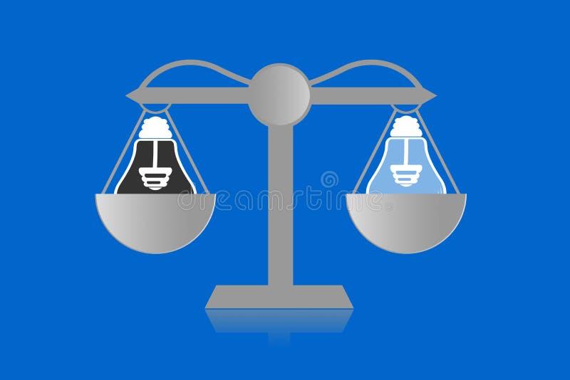 正义的缩放比例 皇族释放例证
