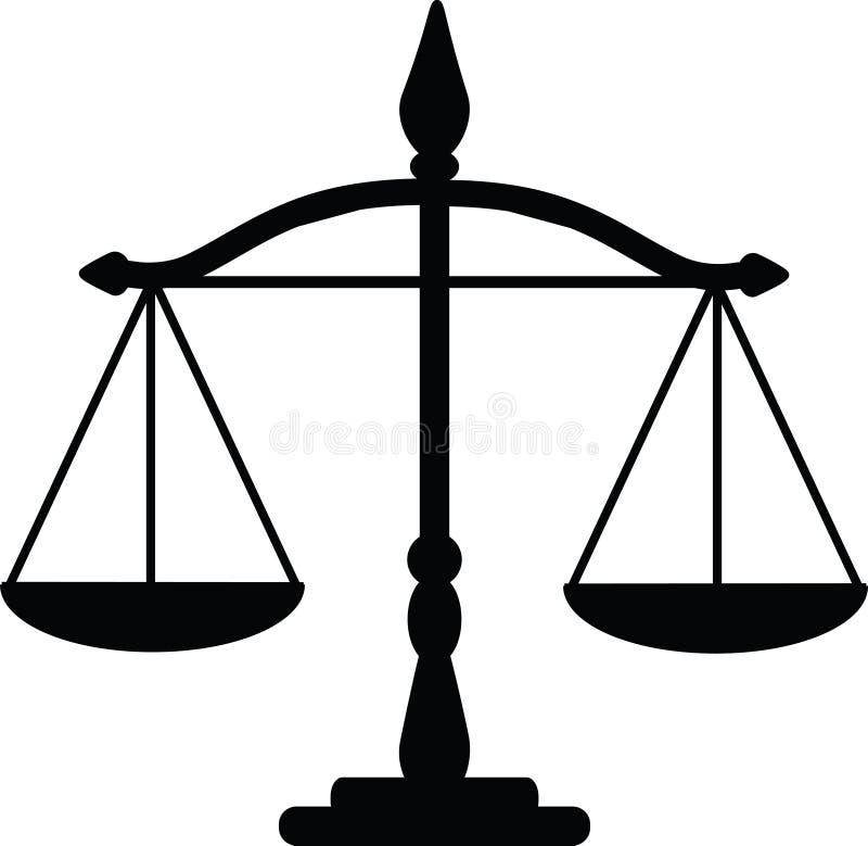 正义缩放比例 皇族释放例证