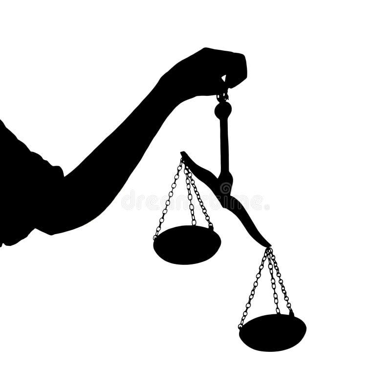 正义缩放比例 库存照片