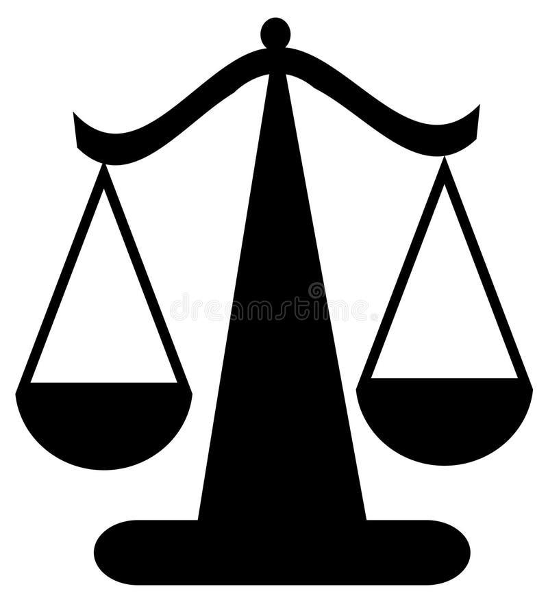 正义缩放比例 库存例证