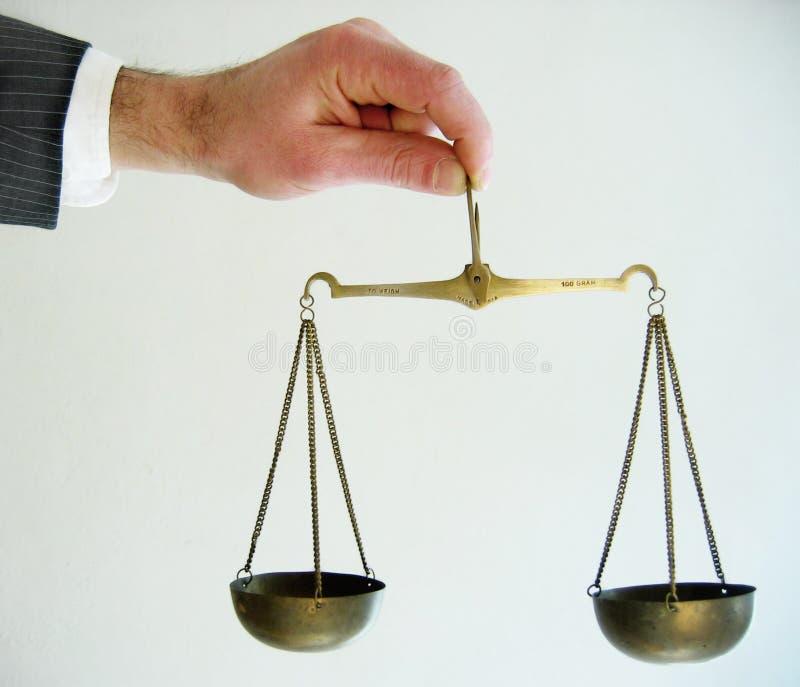 正义缩放比例 库存图片