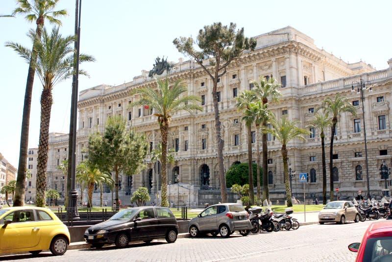 正义罗马意大利最高法院  免版税库存照片
