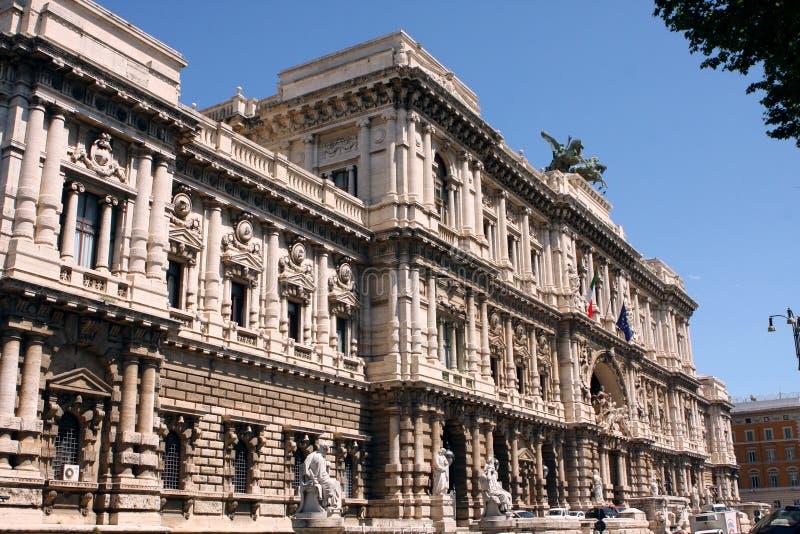 正义罗马意大利最高法院  免版税库存图片