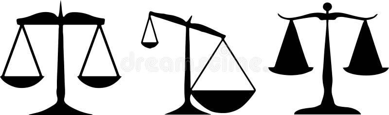正义象标度在白色背景的 向量例证