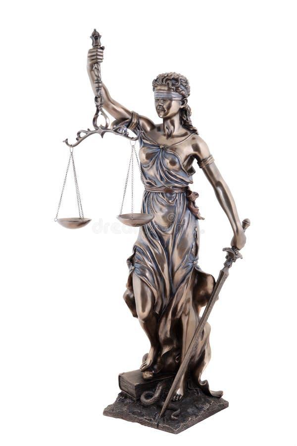 正义雕象  库存照片