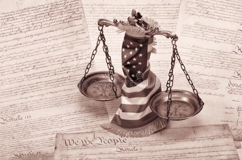 正义,法律概念标度  库存图片
