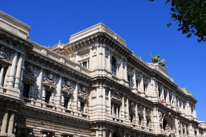 正义,罗马,意大利宫殿  免版税库存照片