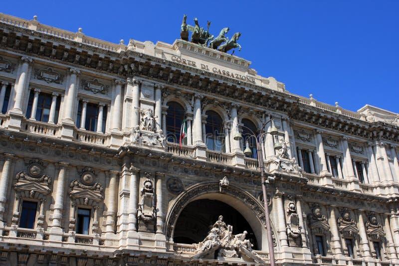 正义,罗马,意大利宫殿  免版税库存图片
