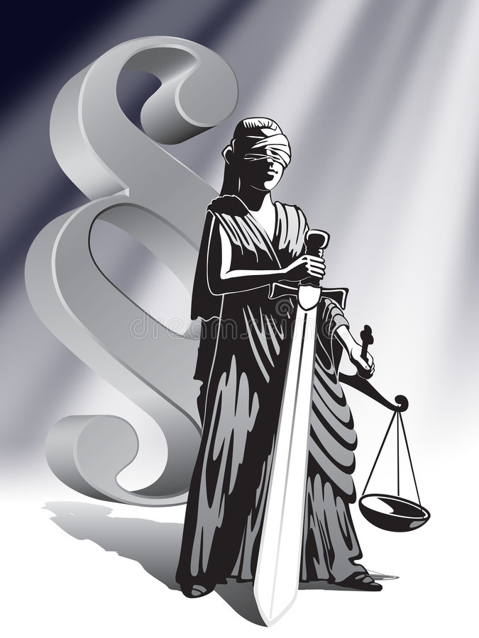 正义 皇族释放例证
