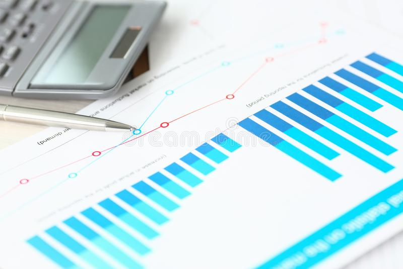 正式帐户文件财务利润计算表 免版税库存照片