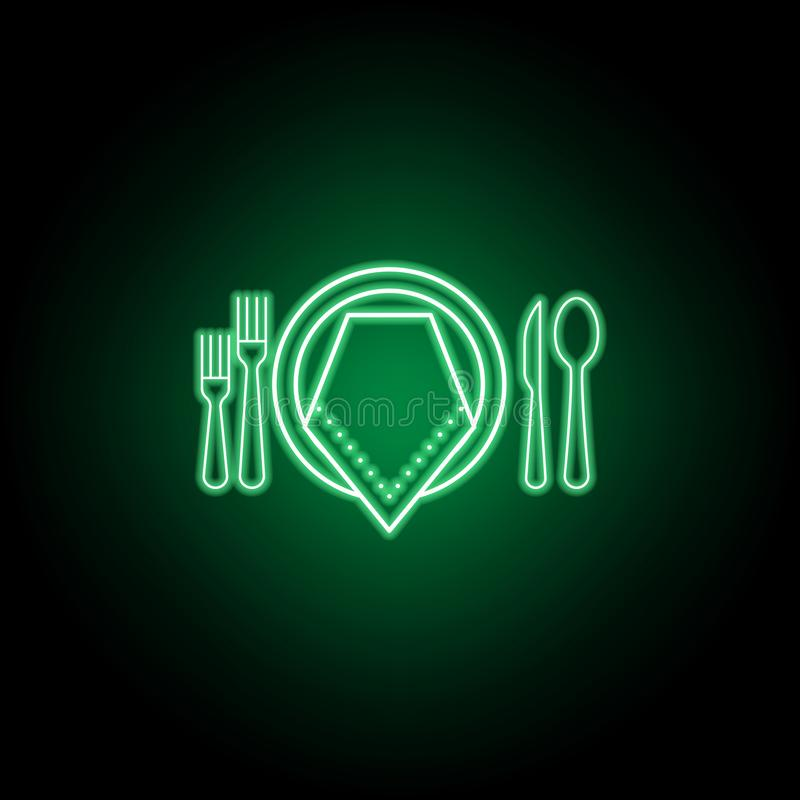 正式晚餐象 E 向量例证
