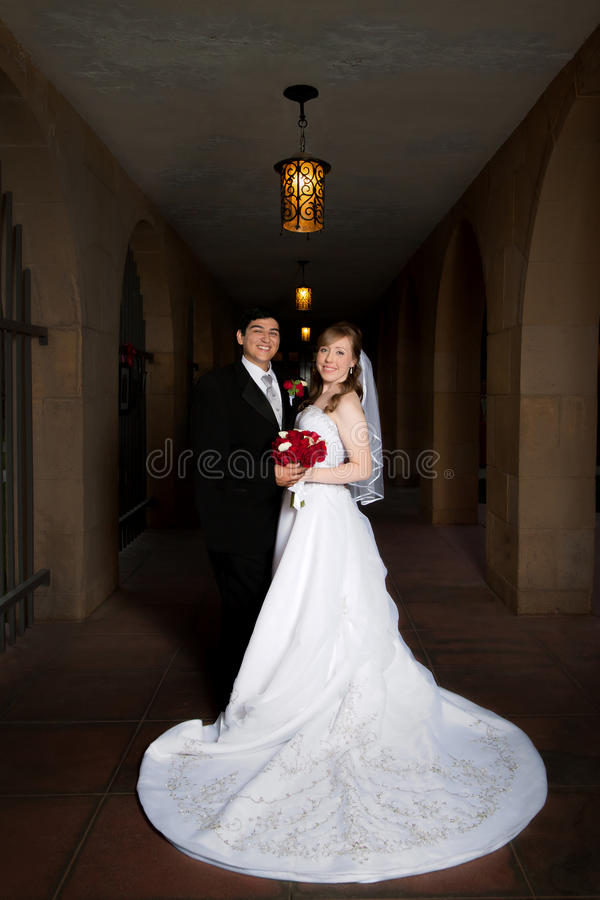 正式的新娘和新郎 库存照片