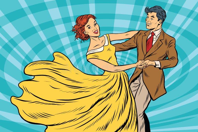 正式舞会、夫妇女孩和男孩舞蹈 皇族释放例证