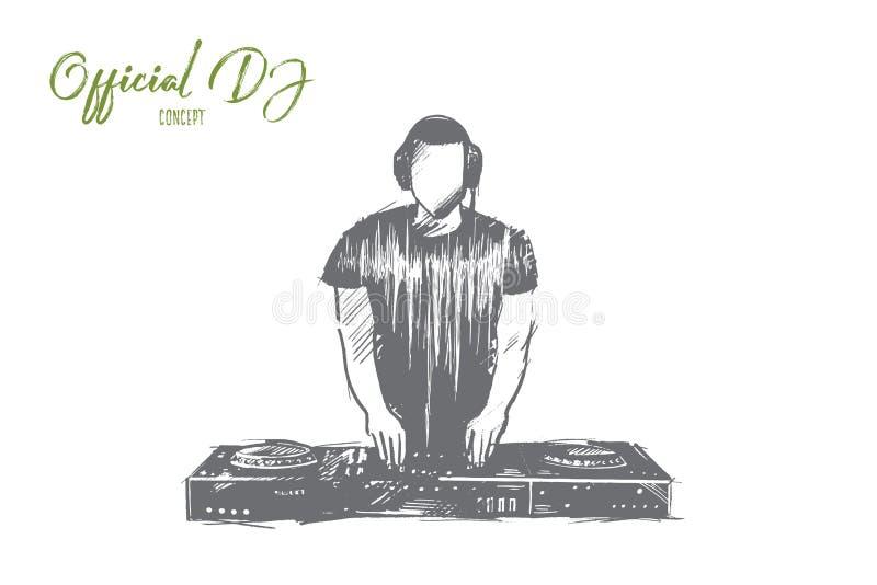 正式DJ概念 手拉的被隔绝的传染媒介 皇族释放例证